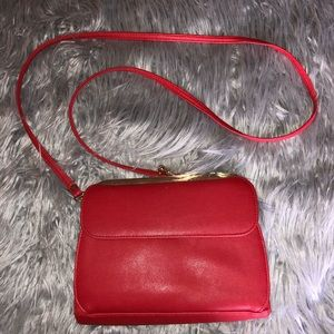 Red vintage brand new purse